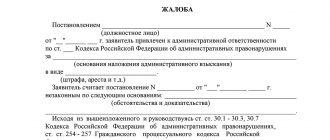 Заявление на обжалование штрафа ГИБДД